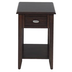 Bowery Hill End Table in Merlot