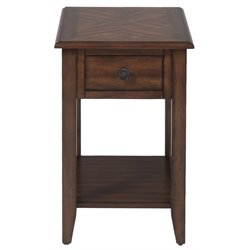 Bowery Hill End Table in Medium Brown