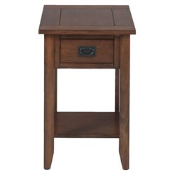 MER-1374 Bowery Hill End Table in Mission Oak
