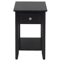 Bowery Hill End Table in Espresso