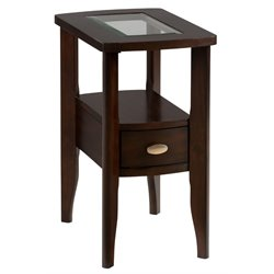 Bowery Hill End Table in Birch Veneers in Merlot