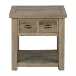Bowery Hill End Table with Straight Legs in Pine