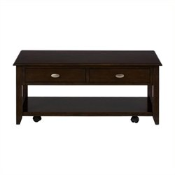 Bowery Hill Castered Coffee Table in Merlot