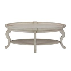 MER-1374 Bowery Hill Oval Coffee Table in Antique Cream