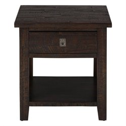 Bowery Hill Square End Table in Deep Chocolate
