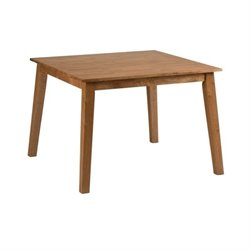 MER-1374 Bowery Hill Wood Square Dining Table in Caramel/Honey