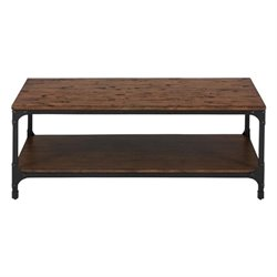 Bowery Hill Wood Coffee Table in Pine