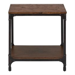 Bowery Hill Wood Square End Table in Pine
