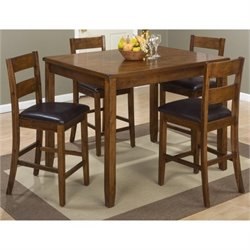 Bowery Hill 5 Piece Dining Set in Warm Brown