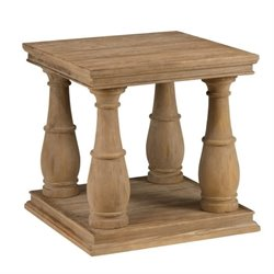 Bowery Hill End Table in Driftwood Brown
