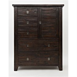 Bowery Hill 5 Drawer Chest in Chocolate