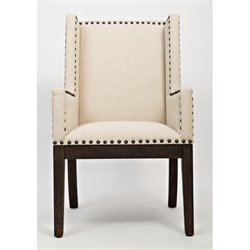 MER-1374 Bowery Hill Upholstered Dining Arm Chair in Bisque