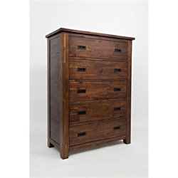 Bowery Hill 5 Drawer Chest in Brown