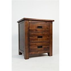 Bowery Hill 3 Drawer Nightstand in Brown