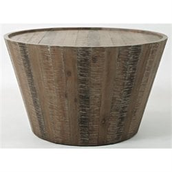 Bowery Hill Round Coffee Table in Brown