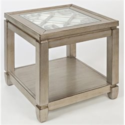 Bowery Hill Cube End Table in Vintage Silver