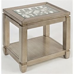 Bowery Hill End Table in Vintage Silver