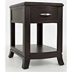 MER-1374 Bowery Hill End Table in Merlot