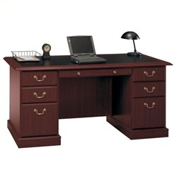 Pemberly Row Executive Desk in Cherry