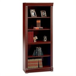 Pemberly Row 5 Shelf Wood Bookcase in Harvest Cherry