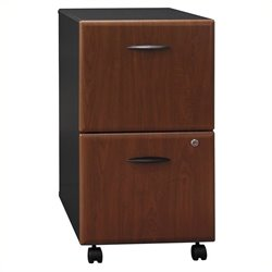 Pemberly Row 2Dwr Mobile Pedestal in Hansen Cherry