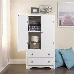 Pemberly Row TV Wardrobe Armoire in White