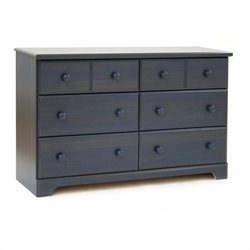 Pemberly Row Double Dresser in Antique Blue