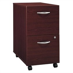 Pemberly Row 2Dwr Mobile Pedestal in Mahogany