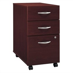 Pemberly Row 3Dwr Mobile Pedestal in Mahogany