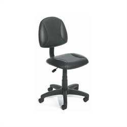 Pemberly Row Adjustable Black Leather Deluxe Posture Office Chair