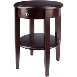 Pemberly Row Wood Round End Table