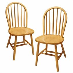 Pemberly Row Dining Chairs in Beech (Set of 2)