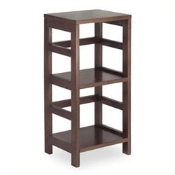 Pemberly Row 2 Section Shelving Unit in Espersso Beechwood