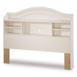 Pemberly Row Full Bookcase Headboard in White