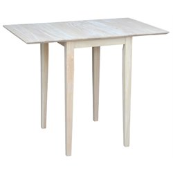 Pemberly Row Unfinished Drop Leaf Casual Dining Table