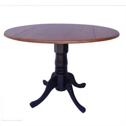 Pemberly Row Dual Drop Leaf Dining Table in Black and Cherry