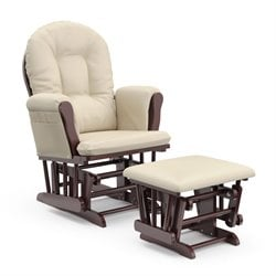 Pemberly Row Glider and Ottoman in Cherry and Beige