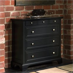 Pemberly Row 4 Drawer Chest in Ebony Finish
