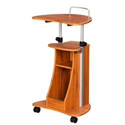 Pemberly Row Mobile Laptop Stand in Honey