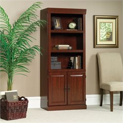 Pemberly Row 3 Shelf Wood Bookcase in Classic Cherry