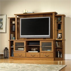 Pemberly Row Home Theater in Carolina Oak finish
