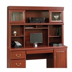 Pemberly Row Computer Credenza Hutch