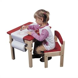 Pemberly Row Red Table and Chair Set