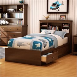 Pemberly Row Twin Mates Bed in Cherry