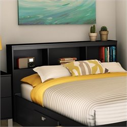 Pemberly Row Bookcase Headboard in Black