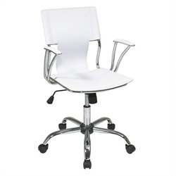 Pemberly Row Office Chair in White