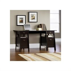 Pemberly Row Executive Trestle Desk in Jamocha Wood