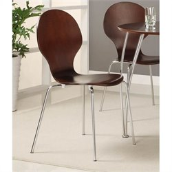 Pemberly Row Wood Dining Chair in Espresso (Set of 2)