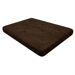 Pemberly Row 8-Inch Independently-Encased Coil Premium Full-Size Futon Mattress in Chocolate