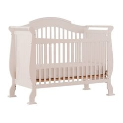 Pemberly Row 4-in-1 Fixed Side Convertible Crib in White